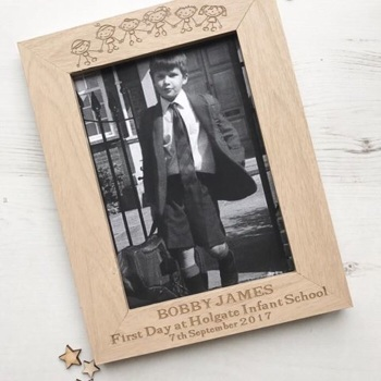 First Day Of School/Nursery Oak Frame