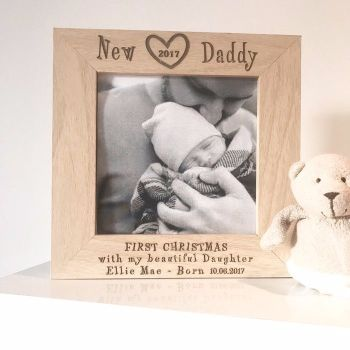 New Daddy At Christmas 2017 Photograph Frame