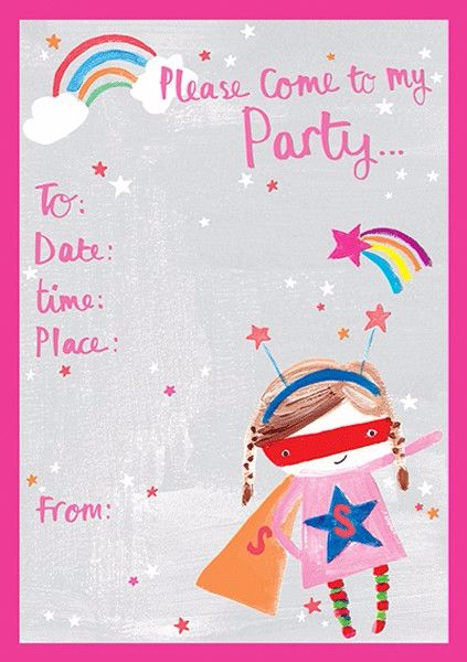 Supergirl Party Invitation Pack