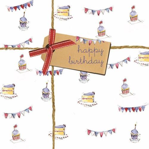 Bunting & Cake Happy Birthday Card