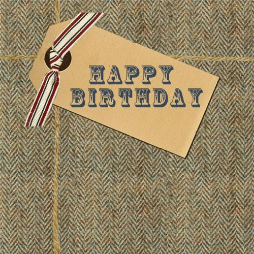 Happy Birthday Tweed Card