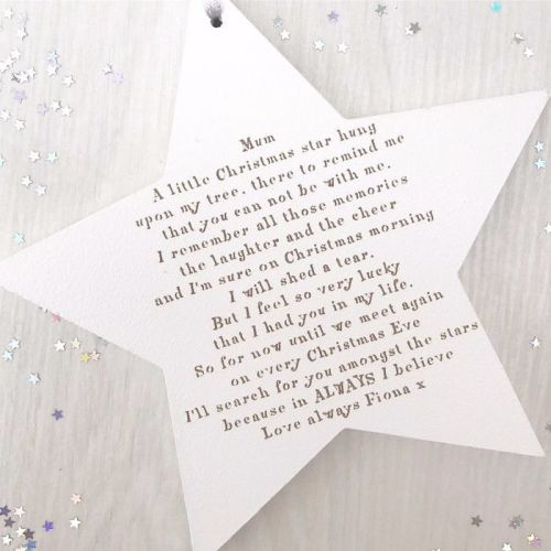 Christmas Without You Hanging Star