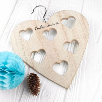 Heart Shaped Personalised Scarf Holder