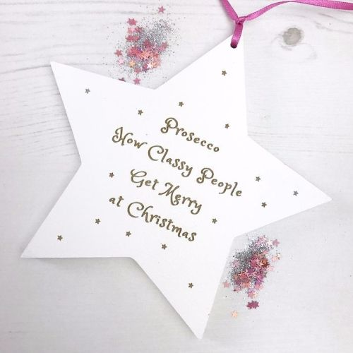 Prosecco Hanging Star