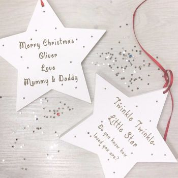 Twinkle Twinkle Hanging Star Decoration