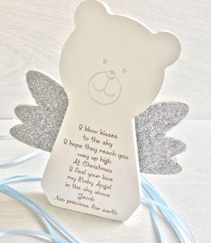 Angel Baby At Christmas Freestanding Teddy Bear