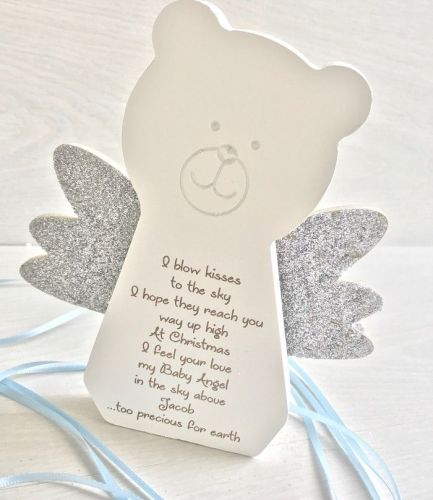 Angel Baby At Christmas Freestanding Teddy Bear
