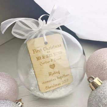 First Christmas As Mr & Mrs Personalised Bauble