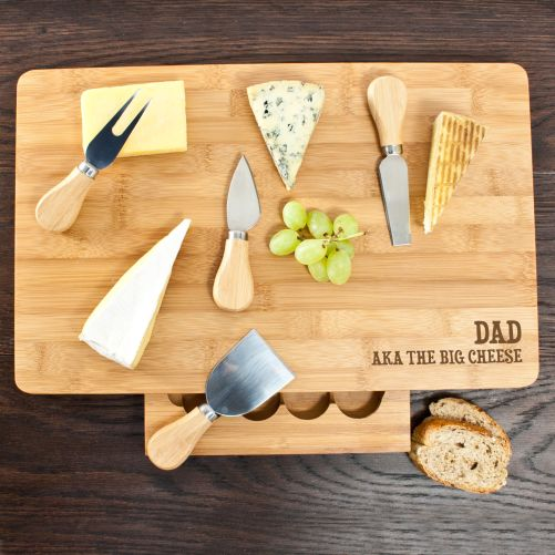 The Big Cheese Large Personalised Bamboo Cheese Board