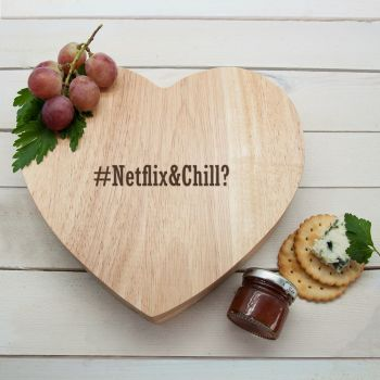 Hashtag Personalised Heart Cheeseboard