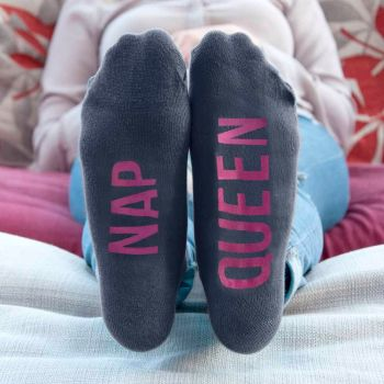 Personalised Charcoal and Hot Pink Socks