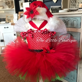 Children's Christmas Themed Tutu Dress (6-18mths)