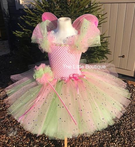 Fairy Princess Tutu Dress With Wings And Wand