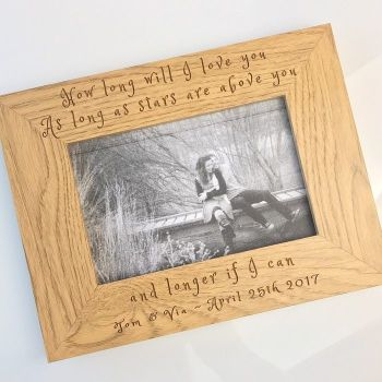 How Long Will I Love You Personalised Frame