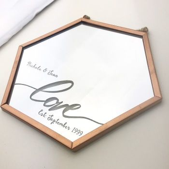 Love Established Personalised Geometric Mirror