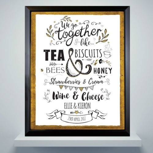We Go Together Personalised Framed Print