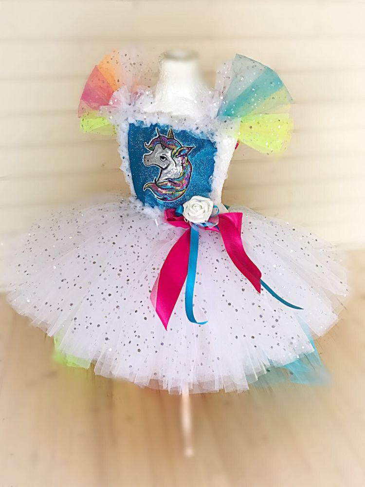 Unicorn Tutu Style Dress