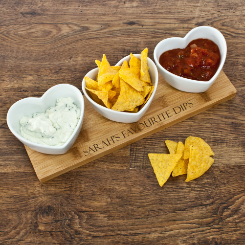 Personalised Heart Shaped Dip Tray