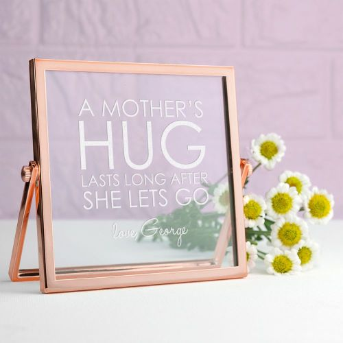 A Mothers Hug Rose Gold Frame