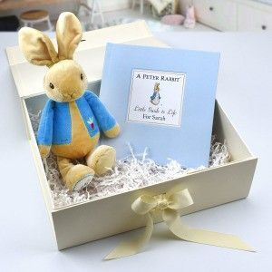 Luxury Personalised Peter Rabbit Book and Plush Toy (Gift Boxed)
