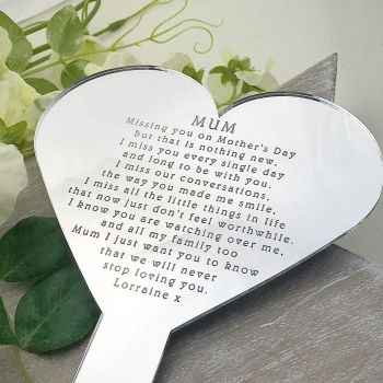 Remembering You Heart Shaped Mother's Day Planter
