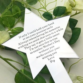 Without You Star Shaped Mothers Day Planter