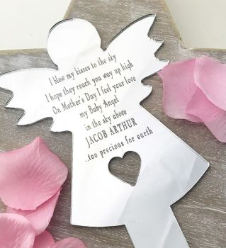Angel Baby Mothers Day Angel Planter Stake