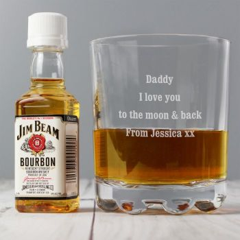 Personalised Tumbler and Jim Beam Set