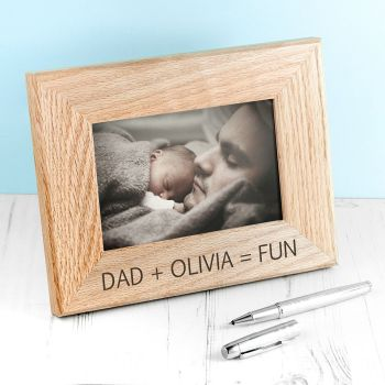 Dad + Child = Fun Photograph Frame