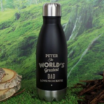 Worlds Greatest Personalised Travel Bottle