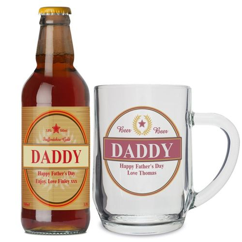 Daddy Beer and Tankard Personalised Set