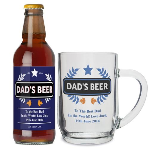 Dads Personalised Beer and Tankard