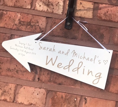 I Do Personalised Wedding Arrow