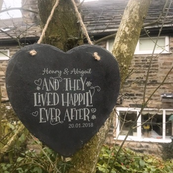 Slate Happily Ever After Sign