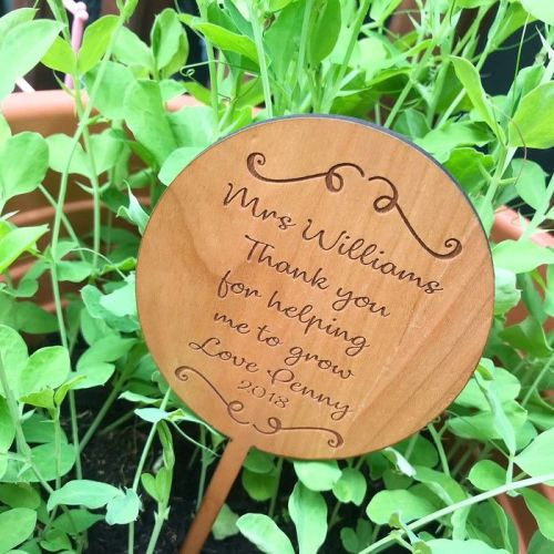 Thank You For Helping Me Grow Personalised Planter Stake