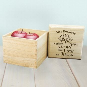 Teachers Plant Seeds Personalised Box