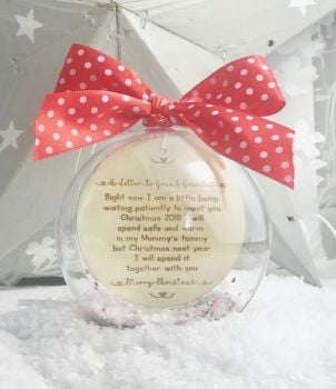 A Letter To New Grandparents Personalised Bauble