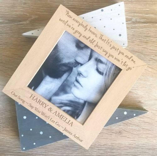 Our Song Personalised Photograph Frame
