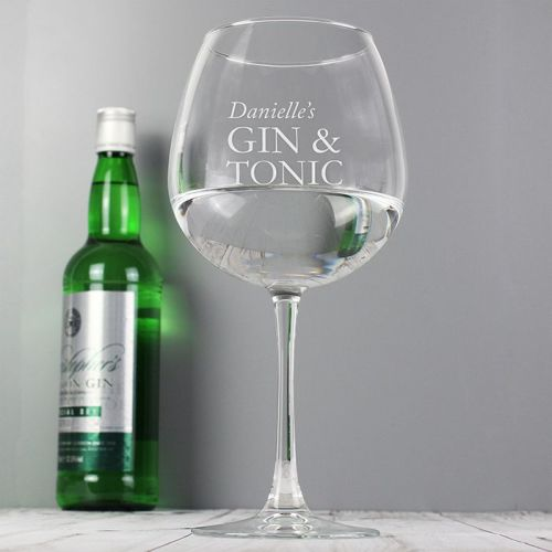 Gin & Tonic Personalised Balloon Glass