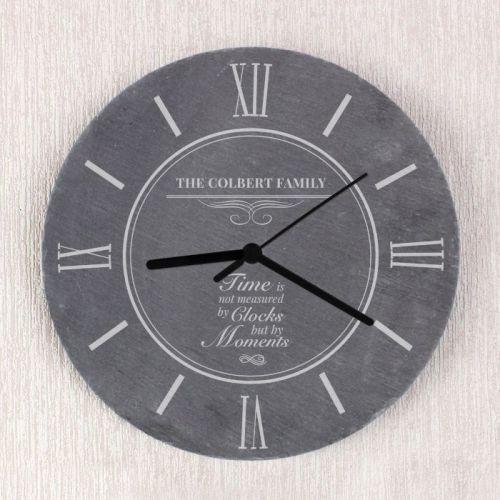 Moments Personalised Slate Clock