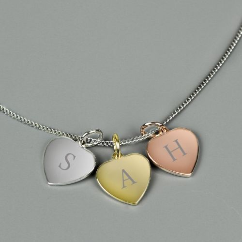 Three Hearts Personalised Necklace