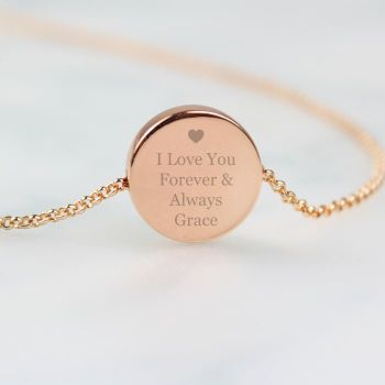 Rose Gold Personalised Necklace