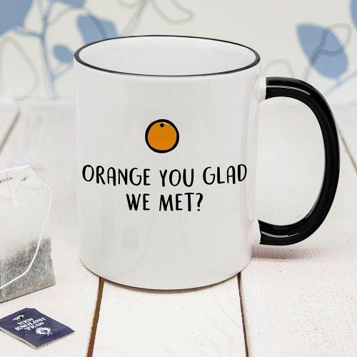 Orange You Glad Personalised Mug
