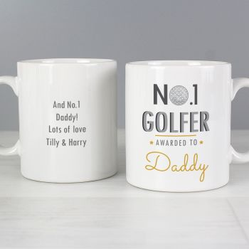 Number 1 Golfer Personalised Mug