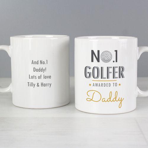 Number 1 Golfer Personalised Mug