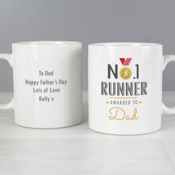 Number 1 Runner Personalised Mug