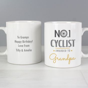 Number 1 Cyclist Personalised Mug