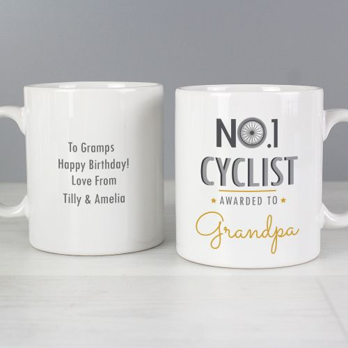 Number 1 Cyclist Personalised Mug