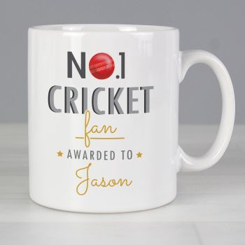 Number 1 Cricket Fan Personalised Mug
