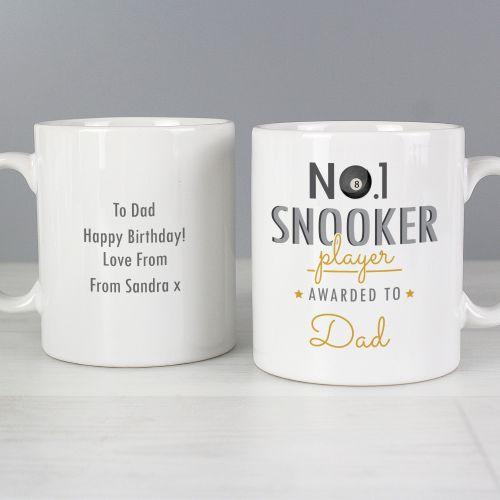Number 1 Snooker Fan Personalised Mug